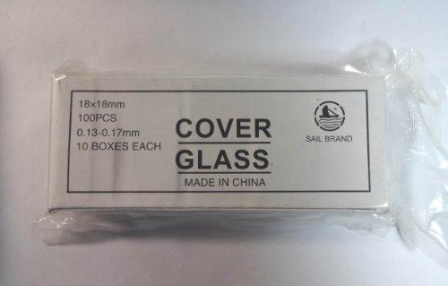 Microscope Glass Cover Slips 1818 Mm 10 Box of 100 Pcs