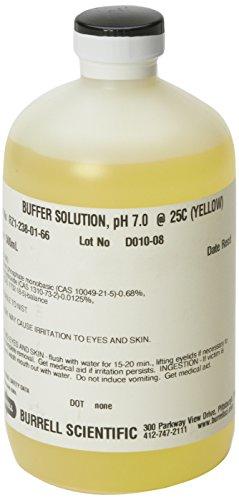 Burrell Scientific RZ1-238-01-66 Buffer Solution 70 pH 500 ml Yellow