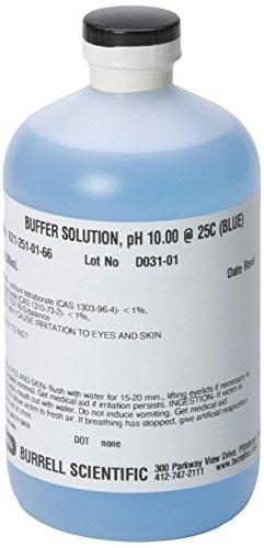 Burrell Scientific RZ1-251-01-66 Buffer Solution 100 pH 500 ml Blue