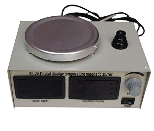 110v Magnetic Stirrer Heating Plate Hotplate Mixer Speed Temp Display