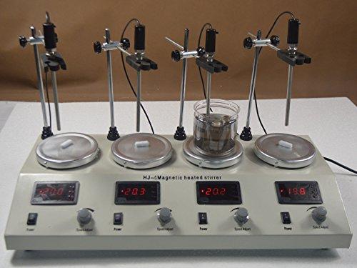 4 Heads Multi unit Digital Thermostatic Magnetic Stirrer Hot plate mixer 110V