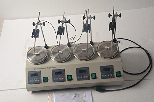 Welljun 4 Units Multi Unit Digital Thermostatic Magnetic Stirrer Hotplate Hot Plate Mixer 110V or 220V