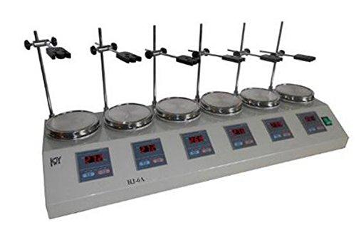 Welljun 6 Heads Multi unit units Digital Thermostatic Magnetic Stirrer Hotplate mixer 110V or 220V