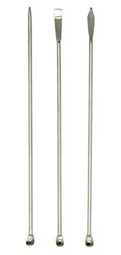 Lab Scoop Lab Micro Reagent Scoop Lab Stainless Steel Sampling Spoon Lab Spatulas 88 Inch Pack of 3