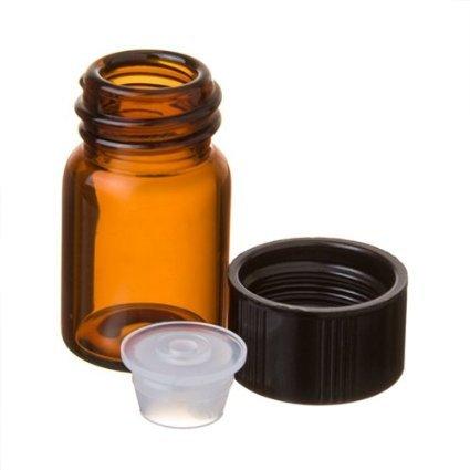 58 Dram AMBER Glass Vial - Screw Cap - Pack of 72