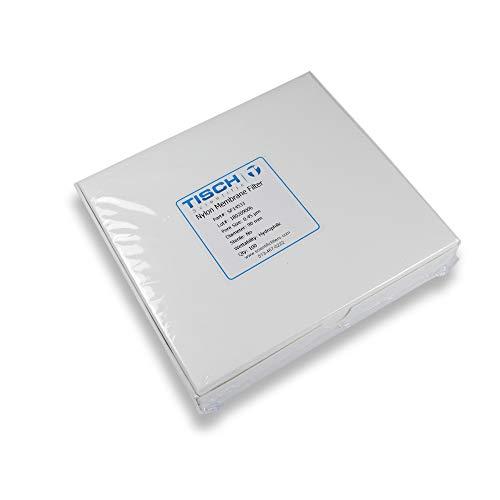 Tisch Brand SF14533 Nylon Membrane Filter 045um 90mm 1pk100 per Pack  Wettability Hydrophilic  Maximum Operating Temperature 100 Degrees C  Flow Rate 8 mlmin10psi
