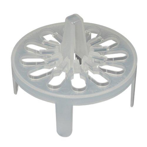 Bel-Art F18742-0120 PrepSafe Microcentrifuge Tube Mini Floating Rack No Vortexing Attachment 15-20ml 12 Places Fits 1000ml Beakers Polypropylene Natural
