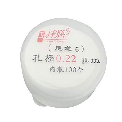 Adamas-Beta 100Pcs Organic Nylon Microporous Filter Membrane Diameter25 mm Pore02 μm