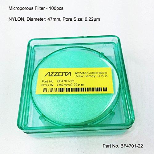 Azzota Microporous Filter - NYLON 100 pcs Diameter 47mm 022um