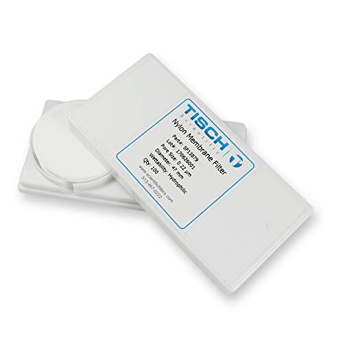 Tisch Brand SF13879 Nylon Membrane Filter 022um 47mm 1pk200 per Pack  Wettability Hydrophilic  Maximum Operating Temperature 100 Degrees C  Flow Rate 25 mlmin10psi