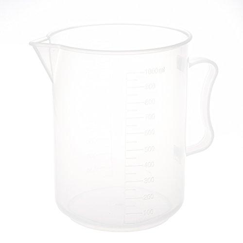TOOGOOR 1000mL Capacity Clear Plastic Graduated Laboratory Measuring Set Beaker