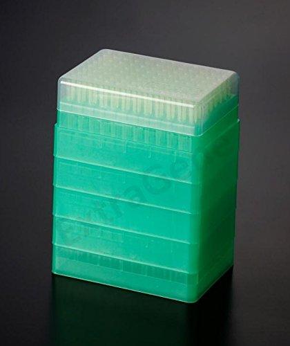 Extragene Universal 200ul Pipette Tips Stack Racks Sterile DNaseRNase Free Pyrogen Safe Yellow 96 TipsRack Pk x 5 Racks