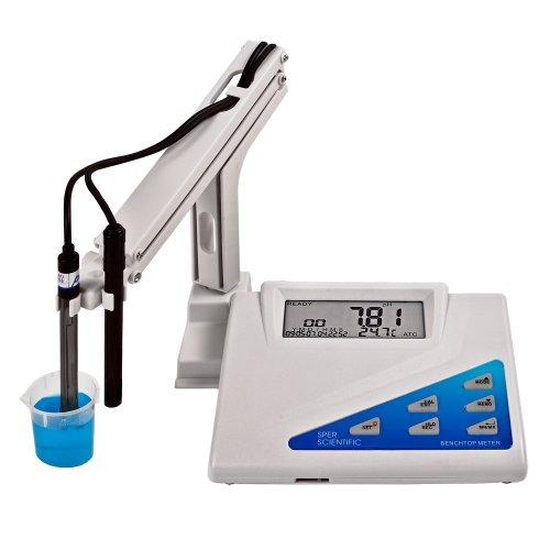 Sper Scientific LCD Display Benchtop pH-mV Meter 0 to 14 pH Range - 002 pH Accuracy 001 Resolution