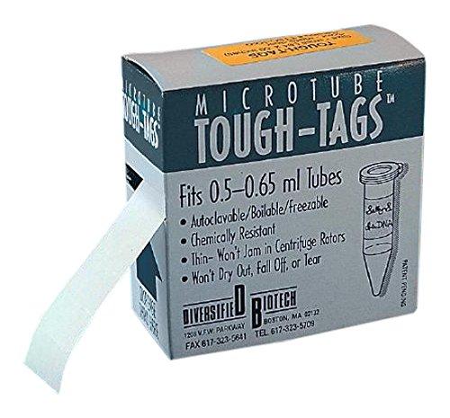 Diversified Biotech 6263R38 Tough-Tag for 15 mL Tubes 128 W x 050 H Orange Pack of 1000