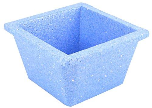 Diversified Biotech Glacierbrand IPAN-1000 Polystyrene Triple Density Ice Pan 1L Volume Icy Blue