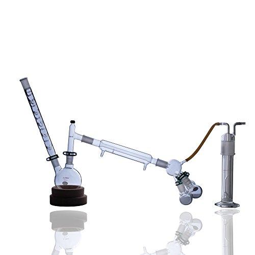 Laboy HMK14 Glass Distillation Apparatus Reflux Lab Glassware Kit with 2440 Joints 23pcs