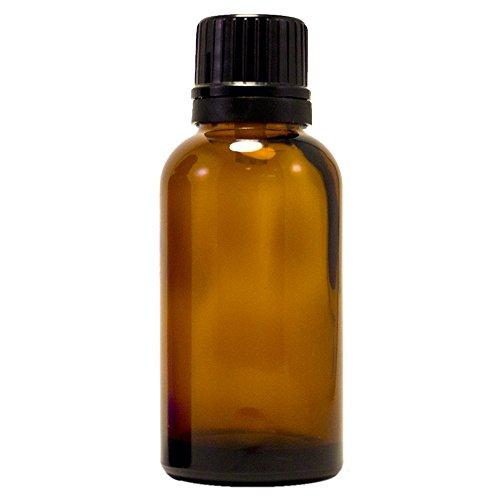 Amber Glass Bottle wEuro Dropper Black Cap 1oz 30ml 12pcs