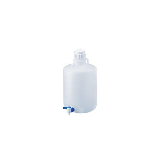 Chemglass CG-870-20 Polypropylene Autoclavable Carboy with Spigot 83mm Closure 20L Capacity