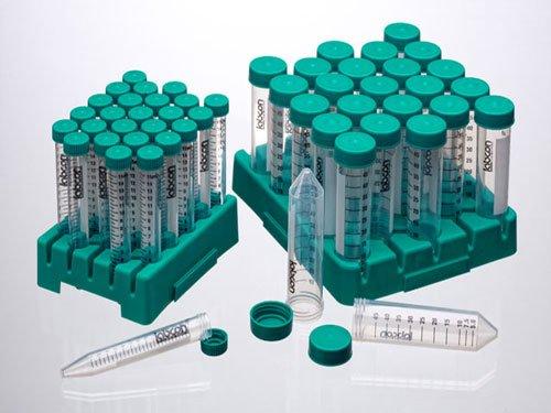 3196-335-008 Labcon PerformR 50 mL Conical Tubes graduated sterile PP reusable polypropylene rack DNase RNase DNA PCR inhibitor endotoxins free 20 racks of 25 tubes 500 tubes total