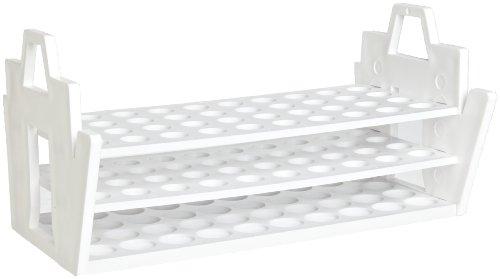 Bel-Art F18890-0016 Slant Rack 13-16mm 40 Places 10¹₂ x 6 x 5¹₈ in Polypropylene