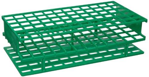 Nalgene 5976-0416 Polypropylene Unwire Test Tube Rack for 16mm Test Tubes Green