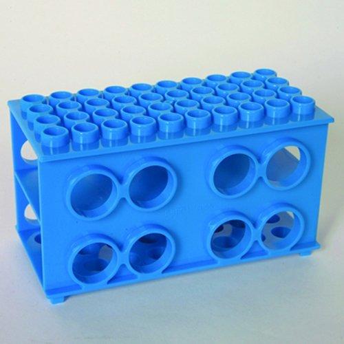 United Scientific 76001 Polypropylene Heavy Duty Cube Test Tube Rack