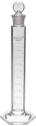 Kimble 20036-100 Glass Certified Class A Graduated Mixing Cylinder 100mL Capacity 5 - 100mL Graduation Interval