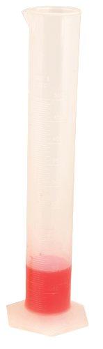 250mL Graduated Cylinder - Premium Polypropylene Hexagonal Base - Class B 2mL Graduation - Autoclavable