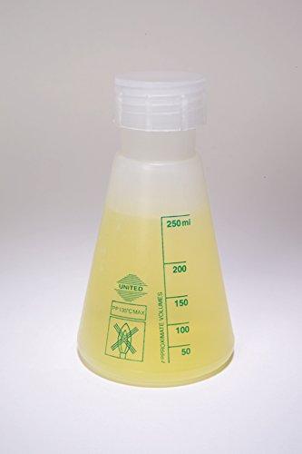 UNITSCI - Wide-Mouth Erlenmeyer Flask PP 125ML PK12
