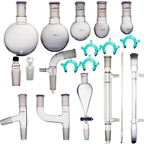 Laboy HMK0103 Glass Organic Chemistry Kit 2440 Lab Glassware Set