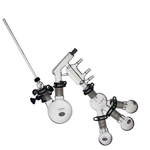 Laboy HMK3101 Glass Chemistry Lab Glassware Distillation Kit 2440 Distilling Apparatus Pack of 15