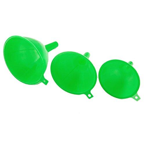TOOGOOR Green Plastic 3 Pcs Different Sizes Laboratory Filter Funnel Set