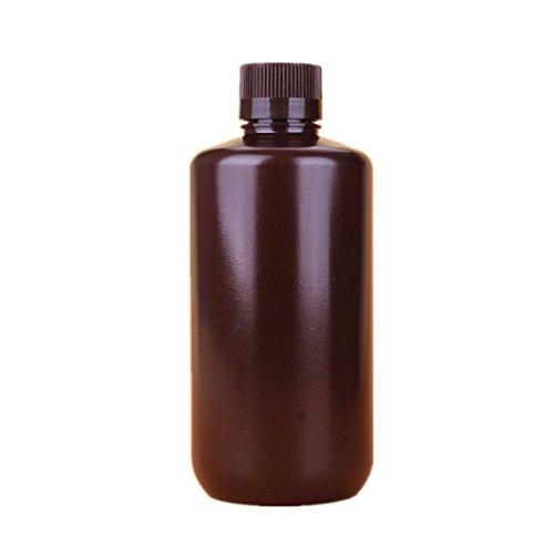 Aibelong 1000ML Leak Proof Plastic Narrow Mouth Laboratory Reagent Bottle with Screw Cap Pack of 6 PCS
