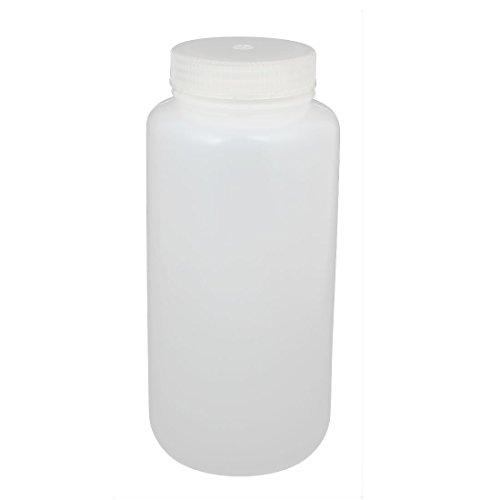 Aibelong 1000ml 32 oz Autoclavable Transparent Leak Proof PP Plastic Wide Mouth Laboratory Reagent Bottle with Screw Cap 1PCPack