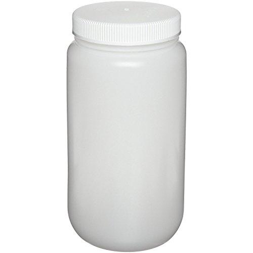 Aibelong 2000ml 64 oz Autoclavable Transparent Leak Proof PP Plastic Wide Mouth Laboratory Reagent Bottle with Screw Cap 1PCPack