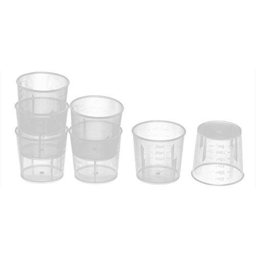 DealMux Plastic Scientific Laboratory Chemistry Test Liquid Measuring Cup 30ml 7 Pcs