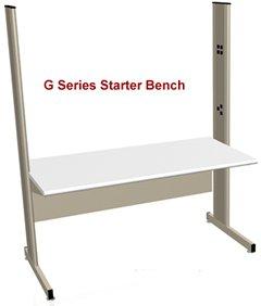 BenchPro Grant Series Modular Laboratory Workbench with Genuine LisStat ESD Top 2000 lbs max capacity 30 Depth x 72 Width x 78 Height