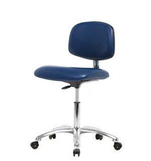 Stellar Scientific - Vinyl Clean Room Chair Chrome - Desk Height 19-24