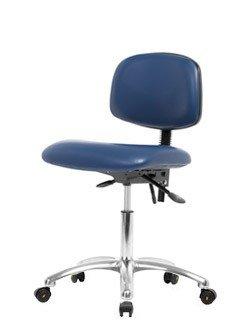 Stellar Scientific - Vinyl ESD Clean Room Chair Chrome - Desk Height 19-24