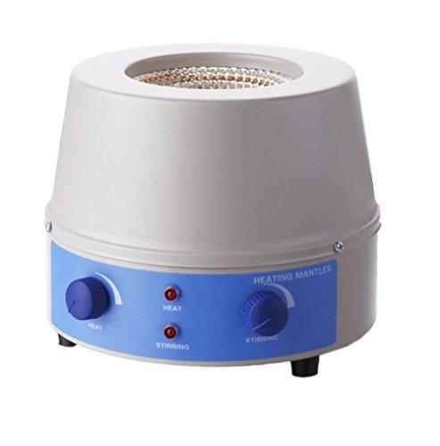 BIPEE Analog Magnetic Stirrer Heating Mantle 250ml 0~1400rpm 150W Max 450℃842℉ One Year Warranty