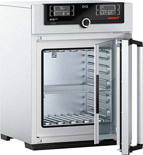 Memmert IN 55 Plus 115V Model IN Plus Incubator 400 mm Height x 400 mm Width x 330 mm Length Interior 53 L Volume 115V 5060 Hz 85 Degree C