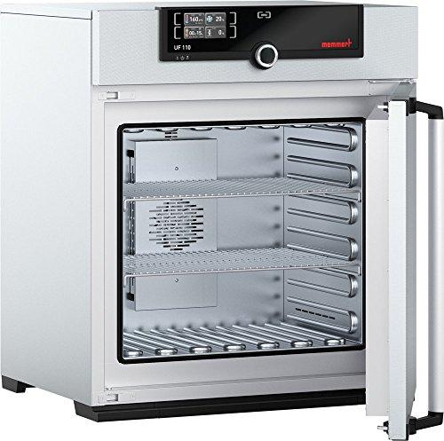 Memmert UF 110 230V Model UF Universal Oven 480 mm Height x 560 mm Width x 400 mm Length Interior 108 L Volume 230V 5060 Hz 300 Degree C