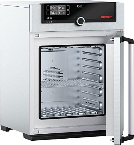 Memmert UF 55 115V Model UF Universal Oven 400 mm Height x 400 mm Width x 330 mm Length Interior 53 L Volume 115V 5060 Hz 300 Degree C