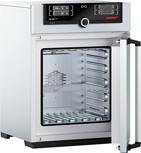 Memmert UF 55 Plus 115V Model UF Plus Universal Oven 400 mm Height x 400 mm Width x 330 mm Length Interior 53 L Volume 115V 5060 Hz 300 Degree C