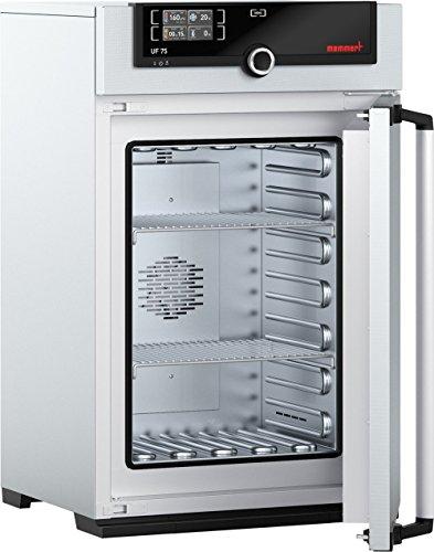 Memmert UF 75 115V Model UF Universal Oven 560 mm Height x 400 mm Width x 330 mm Length Interior 74 L Volume 115V 5060 Hz 300 Degree C