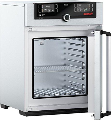 Memmert UN 55 Plus 115V Model UN Plus Universal Oven 400 mm Height x 400 mm Width x 330 mm Length Interior 53 L Volume 115V 5060 Hz 300 Degree C