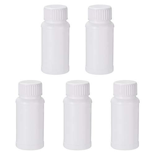 uxcell HDPE Plastic Lab Chemical Reagent Fluoride Bottle 2 oz60ml 5pcs