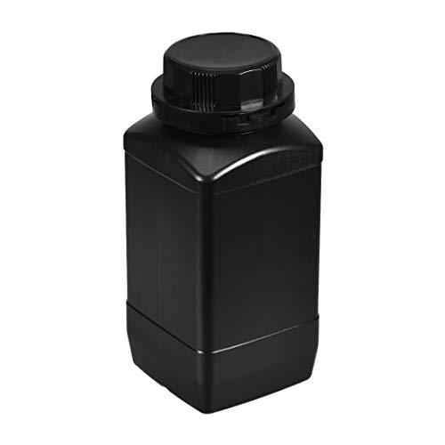 uxcell Plastic Lab Chemical Reagent Bottle 1000ml 34oz Wide Mouth Sample Sealing LiquidSolid Storage Bottles Black
