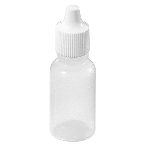 Beauty Clubs 5PCS Empty Plastic Squeezable Dropper Bottle Eye Drop Liquid Container