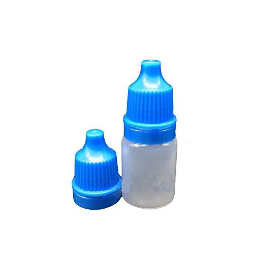 Ewandastore 50pcs Empty Eye Dropper Bottles 5ml Plastic Squeezable Dropper Bottles Eye Liquid Dropper Dropping BottlesBlue Cap